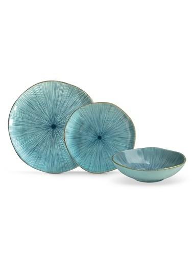 Madame Coco Roselie 2 Kişilik Yemek Takımı - Mavi Mavi